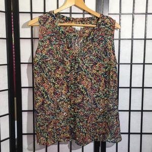 Liz Claiborne Sleeveless Button Top Size XLP